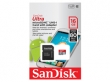 Sandisk micro SDHC Ultra Android 16GB 80MB/s + adapter memóriakártya
