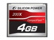Silicon Power Compact Flash 4GB 200x memóriakártya