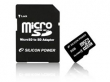Silicon Power MicroSDHC 8GB + adapter CL6 memóriakártya