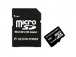 Silicon Power MicroSDHC 8GB + adapter CL4 memóriakártya