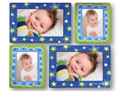 ZEP FRA1108 kék/zöld csillagos szobadekor
