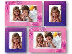 ZEP FRA1118 pink/lila csillagos szobadekor
