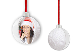 ZEP SF128W gömb alakú karácsonyfadísz fehér