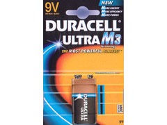 Duracell Ultra Power 9V elem