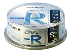 Fuji DVD-R * 25 CakeBox írható DVD