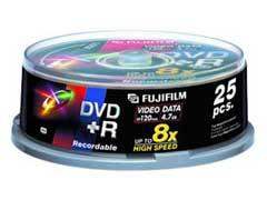 Fuji DVD+R * 25 CakeBox írható DVD