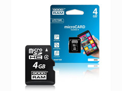Goodram MicroSD CL4 4GB +  adapter