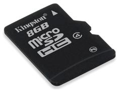 Kingston Micro SDHC Class4 8GB  memóriakártya