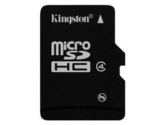 Kingston Micro SDHC Class4 8GB + adapter