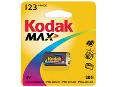 Kodak Max K 123 L fotóelem