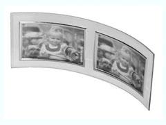 ' Üveg GT-214 10x15 dupla fekvõ képkeret