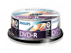 Philips DVD-R * 25 Cake Box Printable írható DVD