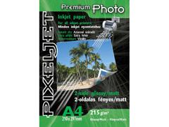 Pixeljet Premium kétoldalas A4/200 215g fényes/matt inkjet fotópapír