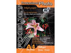 Pixeljet Professional A4/20 260 g fényes inkjet fotópapír