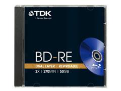 TDK BD-RE25 25GB 2x  újraírható Blu-Ray lemez