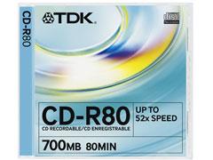 TDK CD-R80 írható CD
