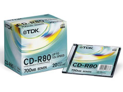 TDK CD-R80 Slim írható CD