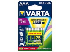 Varta 4db Ready to use 800mAh micro akkumulátor