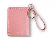 ZEP 054TP pink színû bõrhatású fényképes kulcstartó