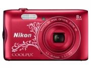 Nikon Coolpix A300 lineart vörös  digitális fényképezõgép