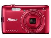 Nikon Coolpix A300 vörös  digitális fényképezõgép