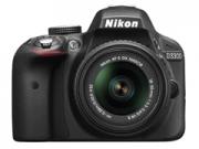 Nikon D3300 + 18-55 DX VR fekete tükörreflexes digitális fényképezõgép