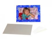 Shot2Go kék hópelyhes képeslap + boríték