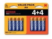 Kodak Kodak Max KAA-4+4 1.5V elem