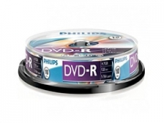 Philips DVD-R * 10 Cake Box írható DVD
