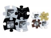 KPH 3204 puzzle fehér-krém-barna színû óra