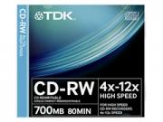 TDK CD-RW80 újraírható CD