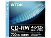 TDK CD-RW80 Slim * 10 újraírható CD