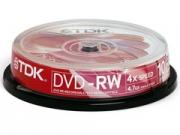TDK DVD-RW * 10 CakeBox újraírható DVD